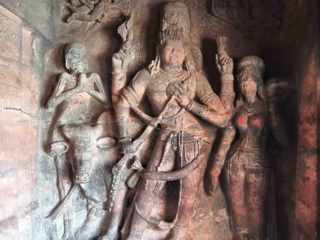 Badami,rock cut cave temples,India,Karnataka,sculpture,carvings