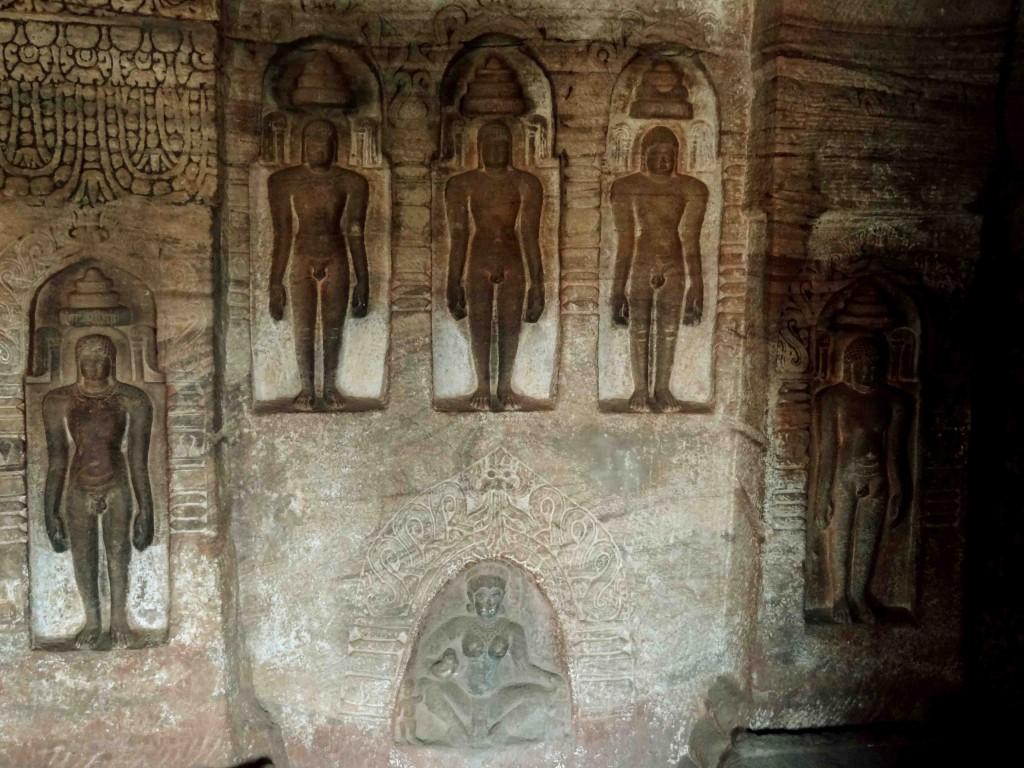 Badami,rock cut cave temples,India,Karnataka,sculpture,carvings,Jainism