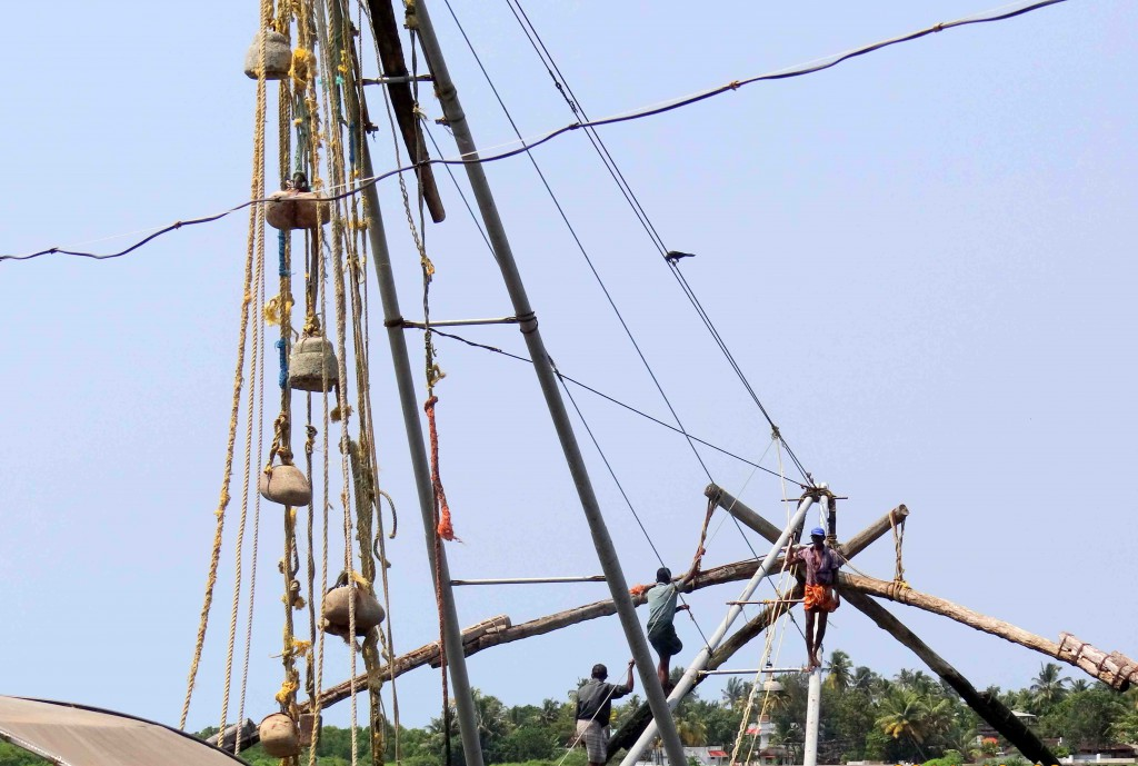fishing net,Cochin,Kerala,India