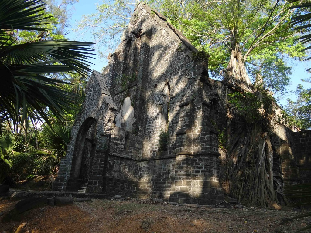 Andaman Island,India,Asia,beaches,Ross Island,church