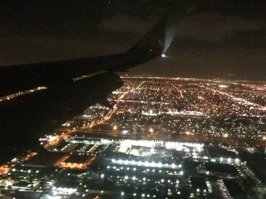 Miami from the plane